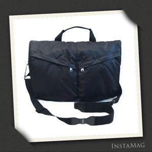 Y-3 Yohji Yamamoto + Adidas Black Messenger Bag